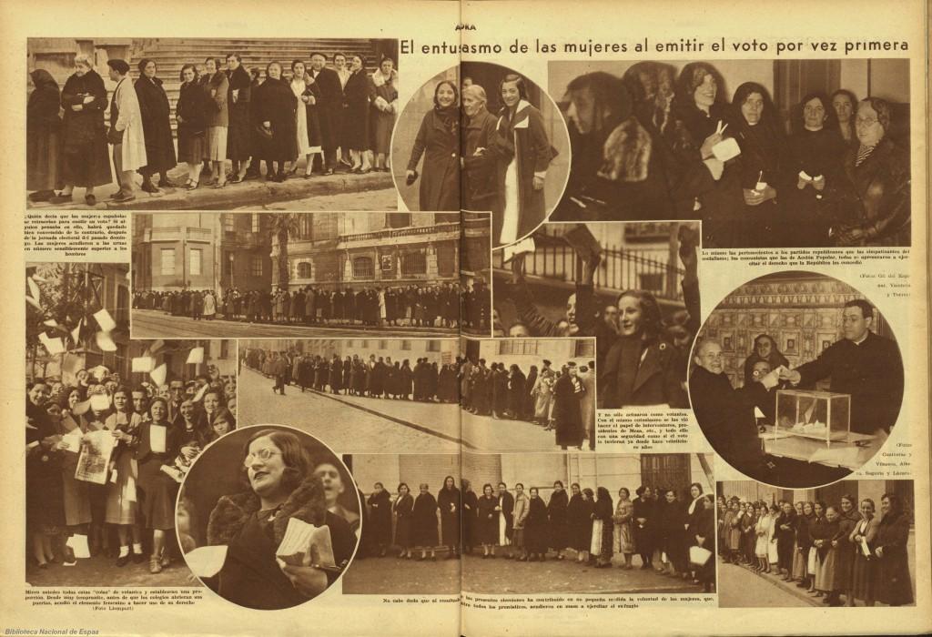 19 noviembre 1933 las mujeres españolas votan por primera vez
