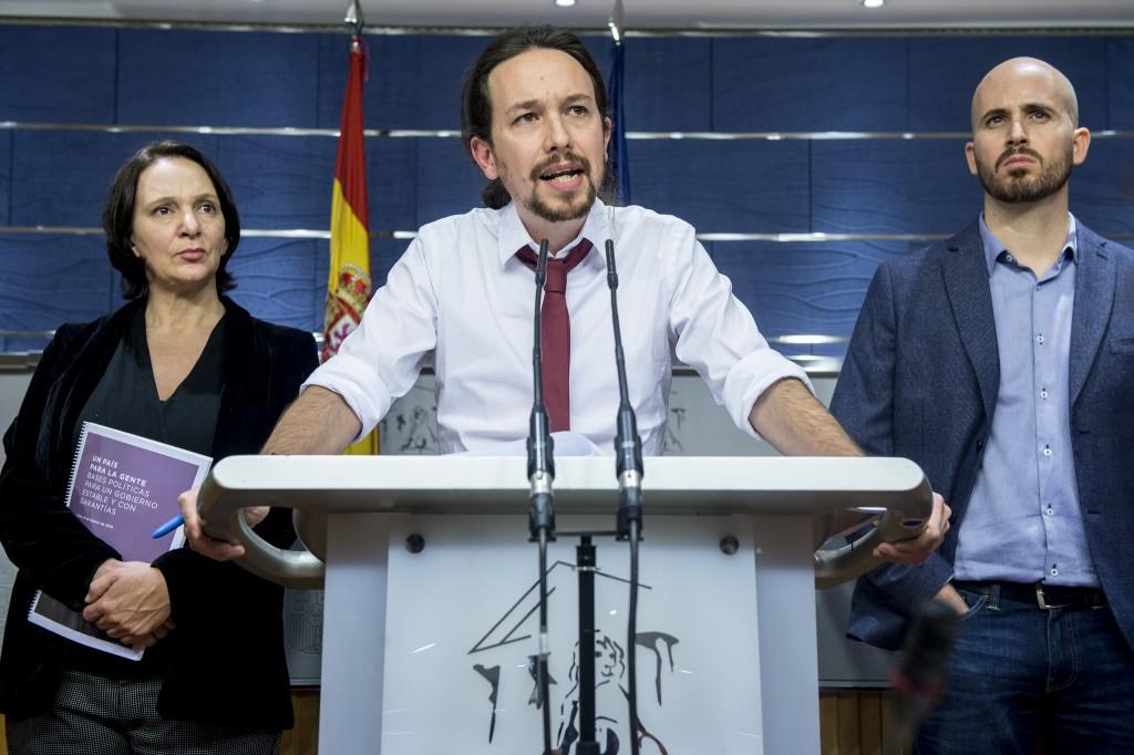Pablo Iglesias presenta su propuesta de acuerdo de Gobierno con el PSOE en el Congreso de los Diputados