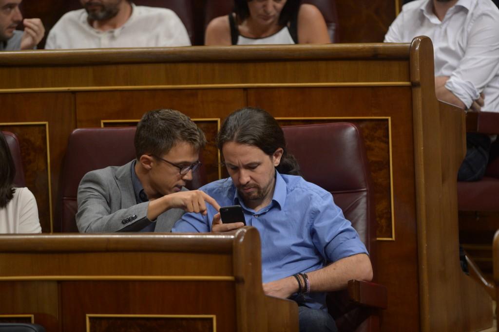 Podemos Pablo Iglesias Iñigo Errejón Congreso Diputados