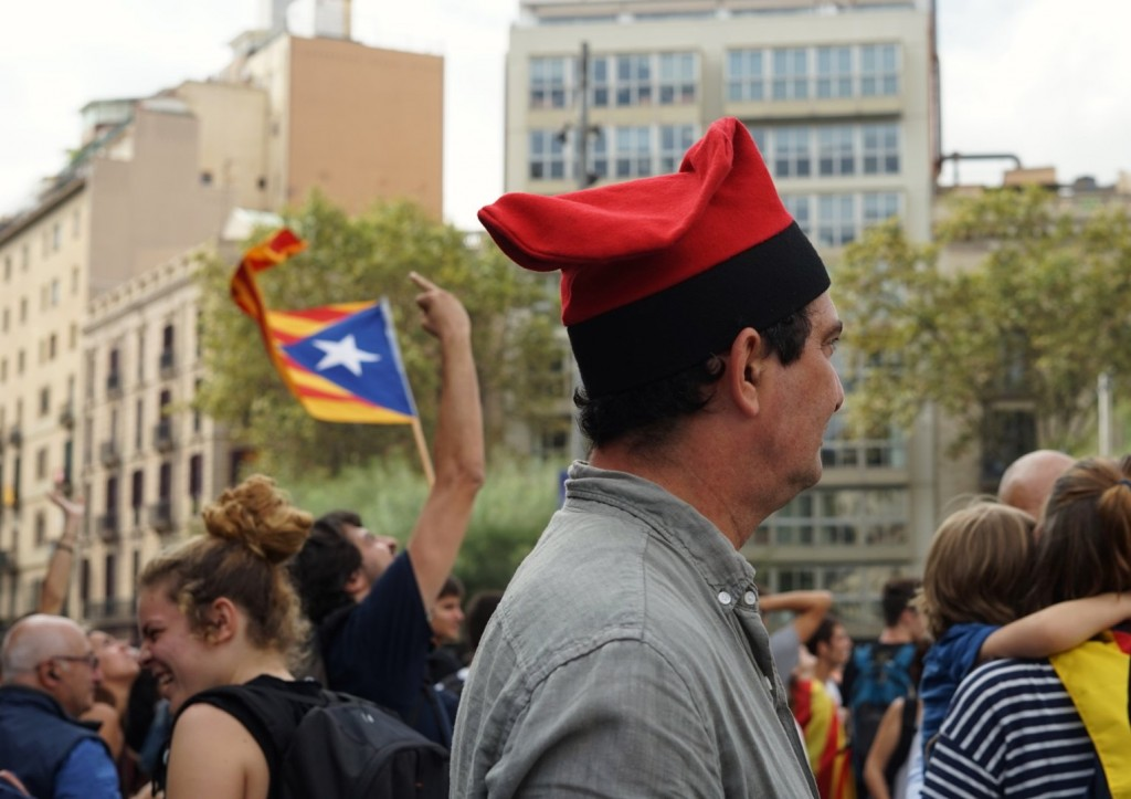 2 octubre Plaça universitat barcelona referendum