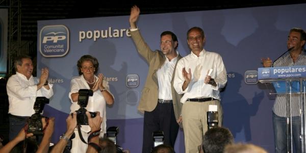 Rajoy Camps Rita Barbera y Ricardo Costa septiembre 2009