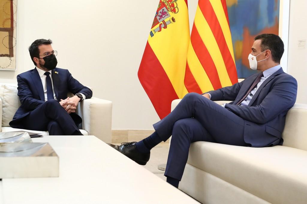reunion gobierno govern Pere Aragones Pedro Sanchez sobre Cataluña