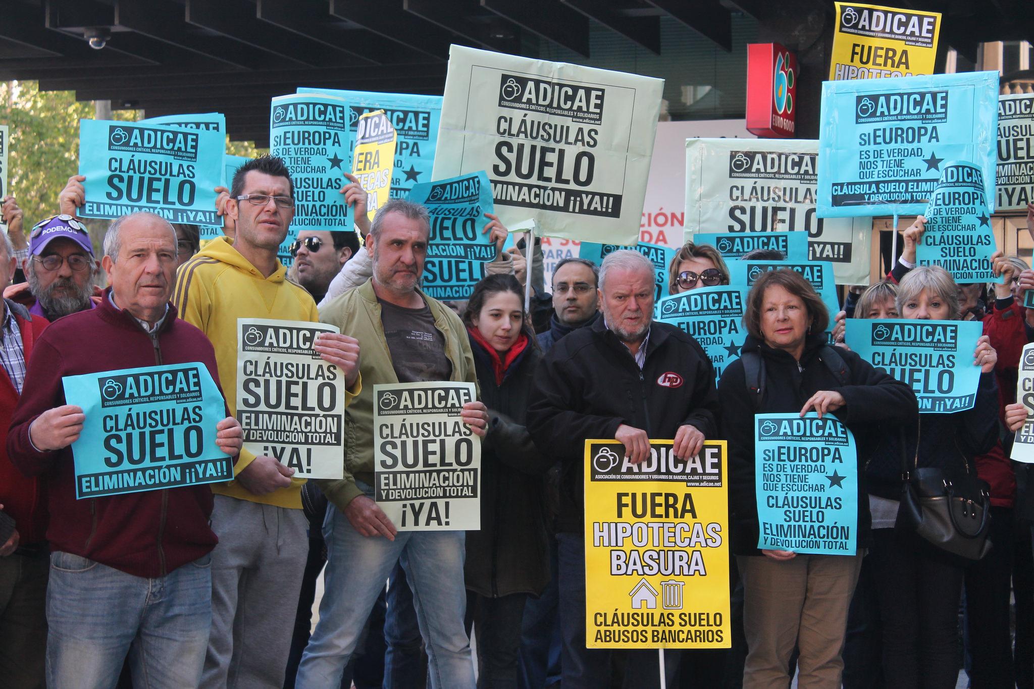Manifestación contra las cláusulas suelo. ADICAE (Flickr)