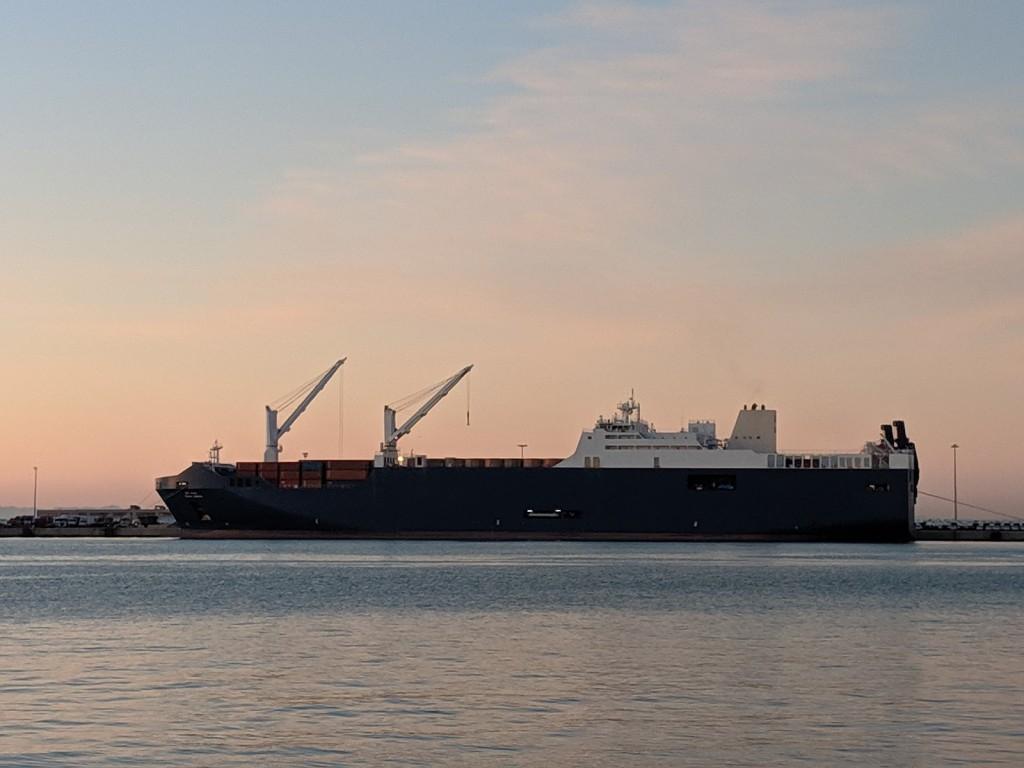 Barco saudí Bahri Abha atracado en 2019 en Sagunto Valencia- Amnistia Internacional