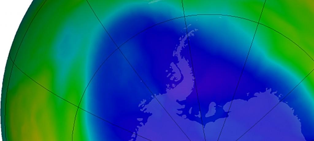 Capa ozono NASA sobre el polo sur en septiembre de 2018