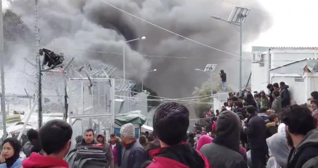 Campo refugiados Moria incendio 16-3-2020 MSF