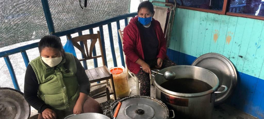 Cocina comunitaria en Perú hambruna Naciones Unidas