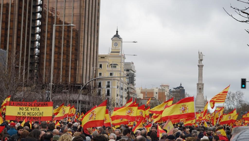 Manifestacion derecha Colon María Navarro