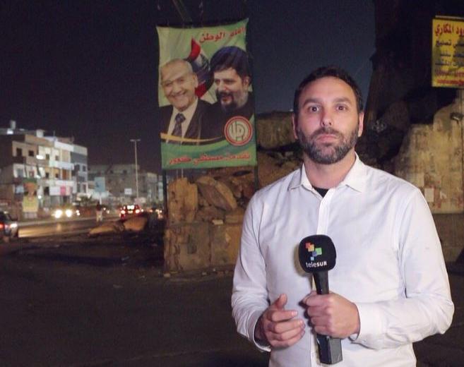 Hibai Arbide en Beirut Libano Telesur