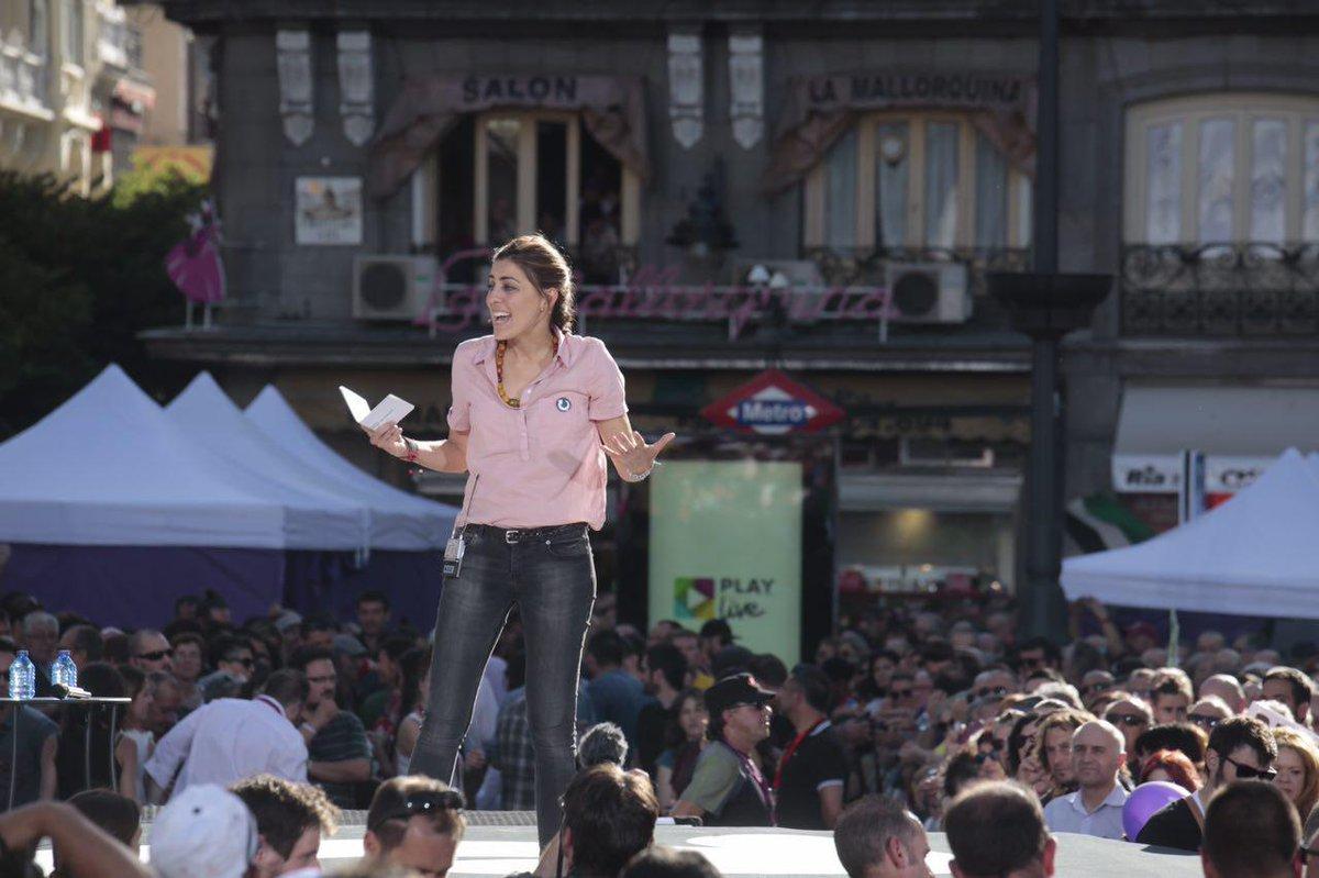Lorena ruiz huerta podemos madrid mocion de censura manifestacion