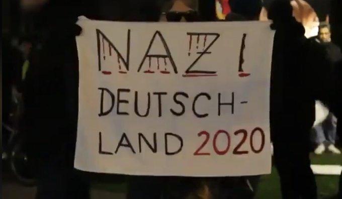 MANIFESTACION alemania contra atentado ultraderecha 20-2-2020-