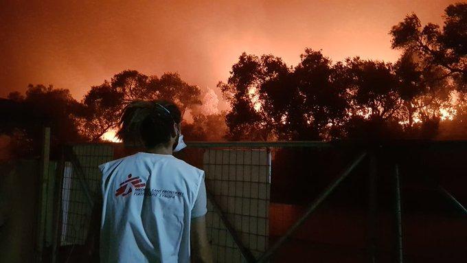 MSF incendio campo refugiados moria