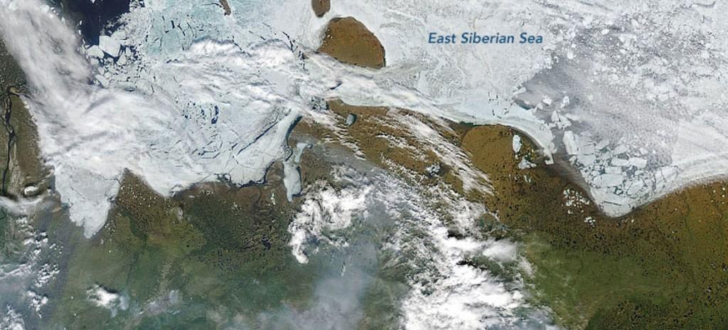 NASA Earth Observatory Incendios forestales en Siberia en 2020 vistos desde el espacio.