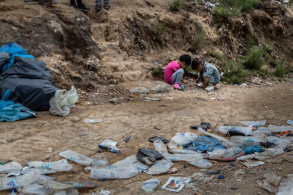 Niños campo refugiados grecia- MSF