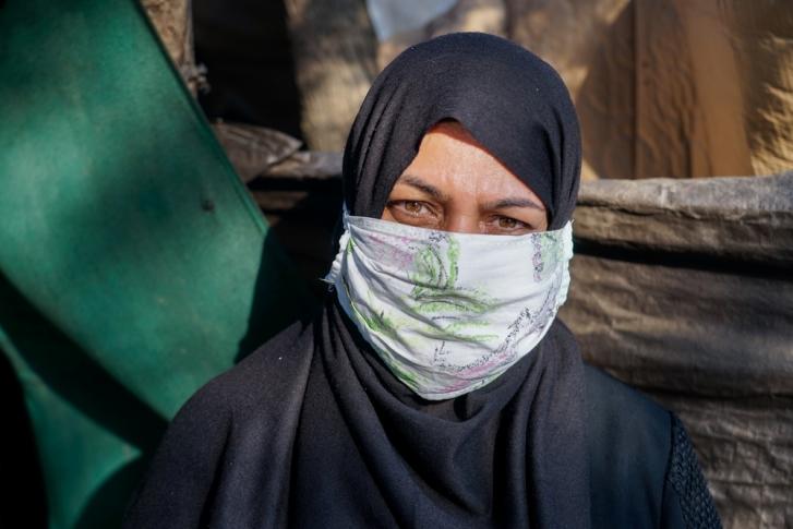 Refugiada en campo refugiados Vathy Grecia Omaima Alhabib. MSF/Faris Al-Jawad