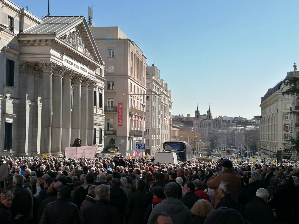 Pensionistas Madrid febrero 2018