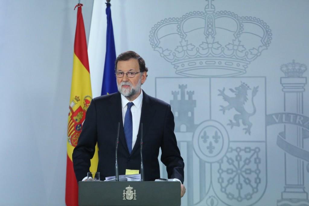 Rajoy anunciando las medidas del artículo 155 sobre Cataluña
