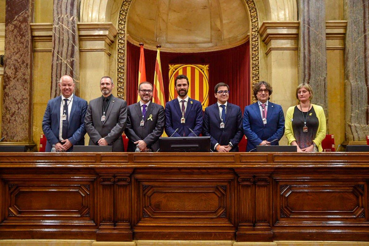 Roger Torrent President de la Mesa del Parlament Catalunya