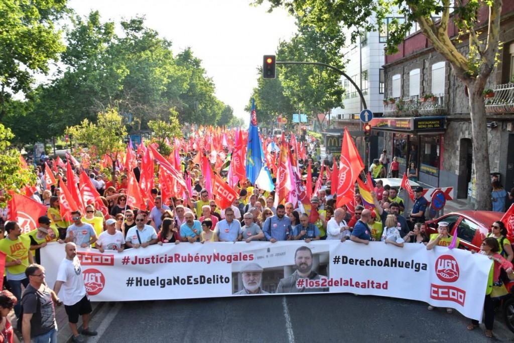 UGT juicio huelga manifestacion