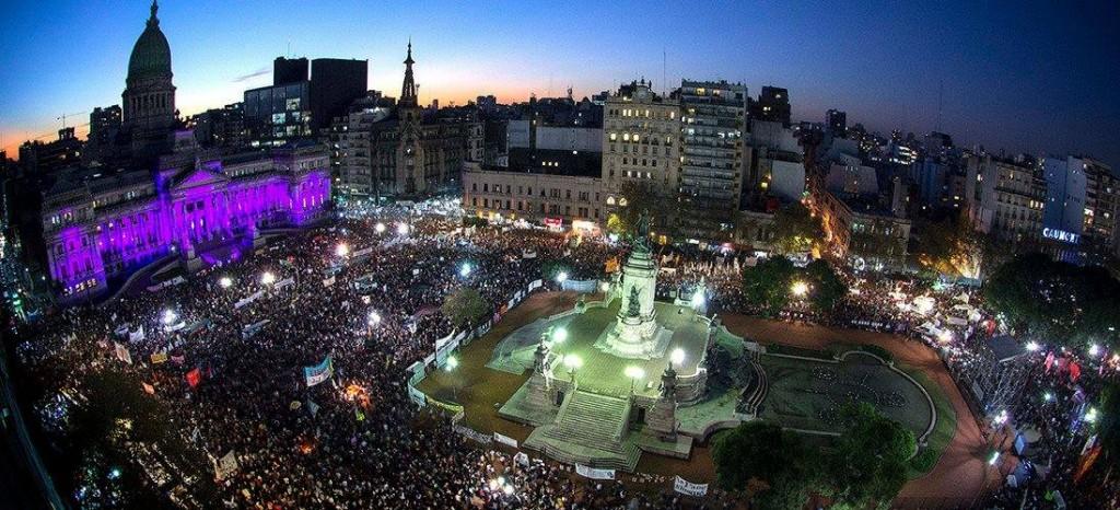 argentina manifestacion pañuelazo aborto del Colectivo Ni una menos