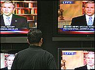 bush en la television