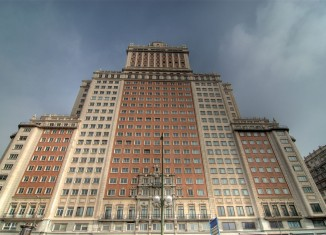 edificio,españa,plaza,madrid,rascacielos