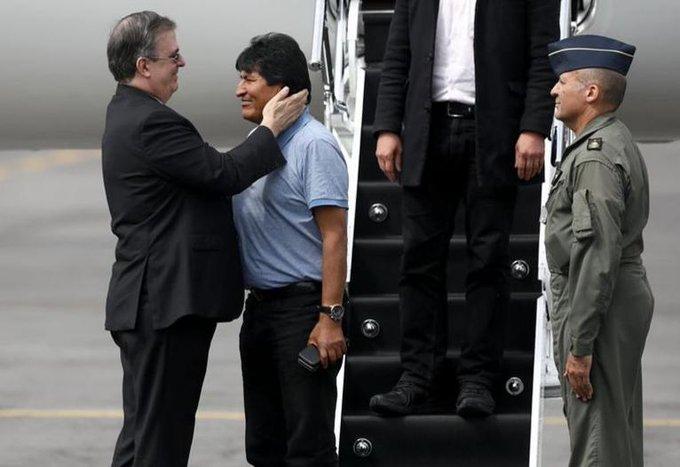 evo morales twitter Asilo  Boliviaen Mexico- junto a canciller Marcelo Ebrard