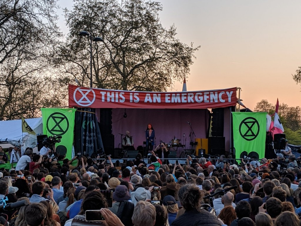 extinction rebellion londres Greta Thunberg