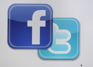 facebook,twitter,logos