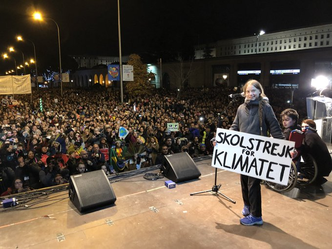 greta thunberg twitter manifestacion madrid