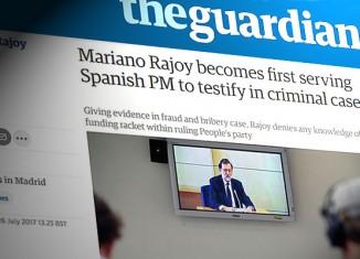 guardian testimonio rajoy juicio gurtel declara corrupcion testigo