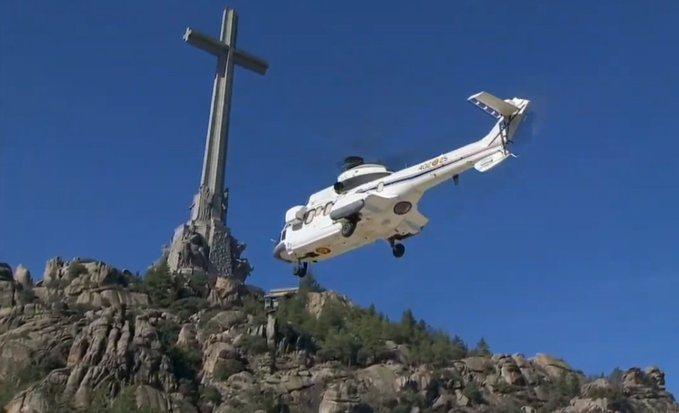 helicoptero exhumacion franco