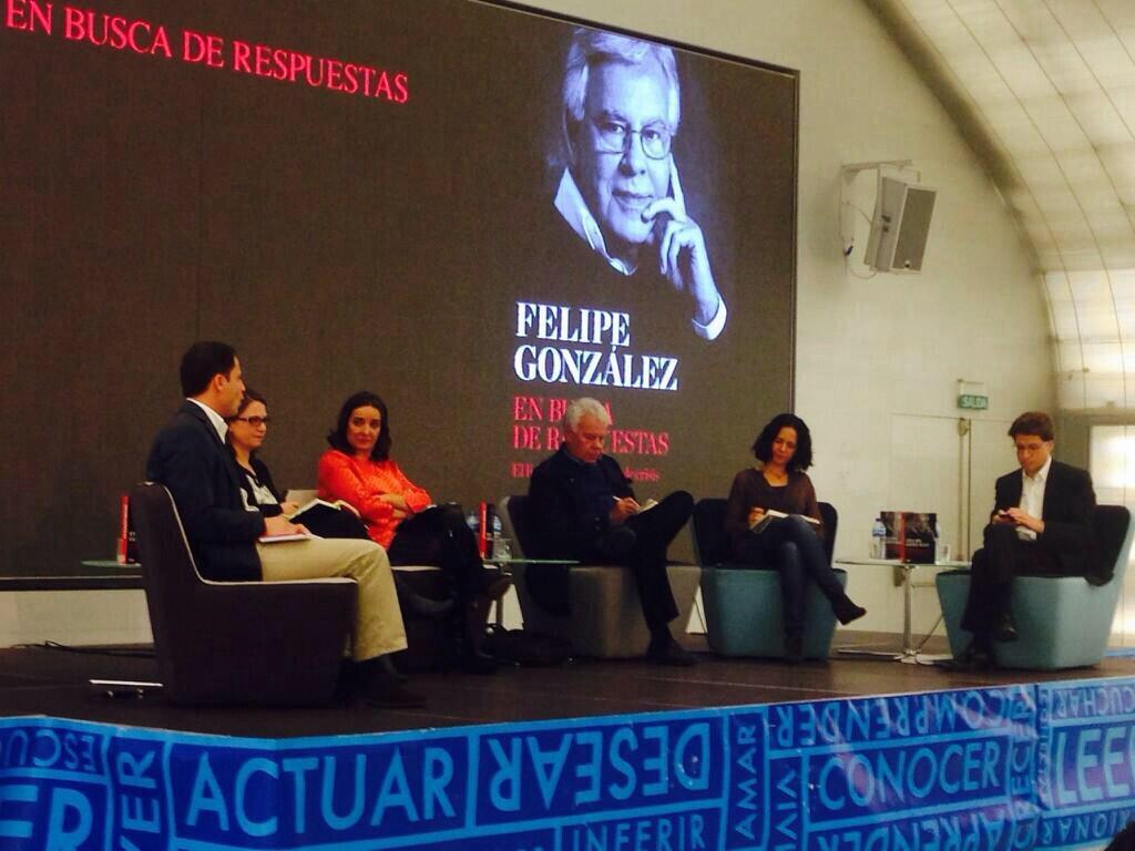 Presentación del libro de Felipe González