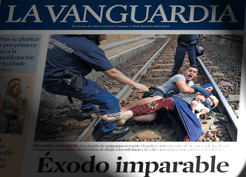 Portada de La Vanguardia del día 4-9-2015