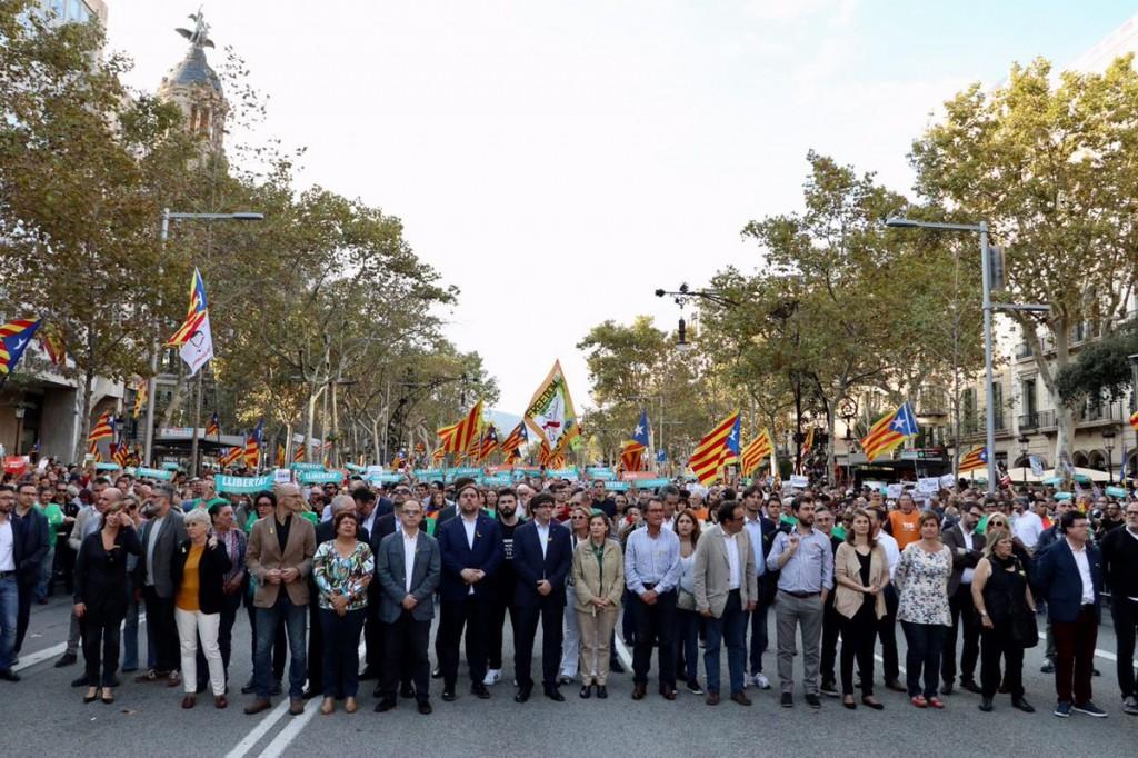 lideres catalanes tras 155