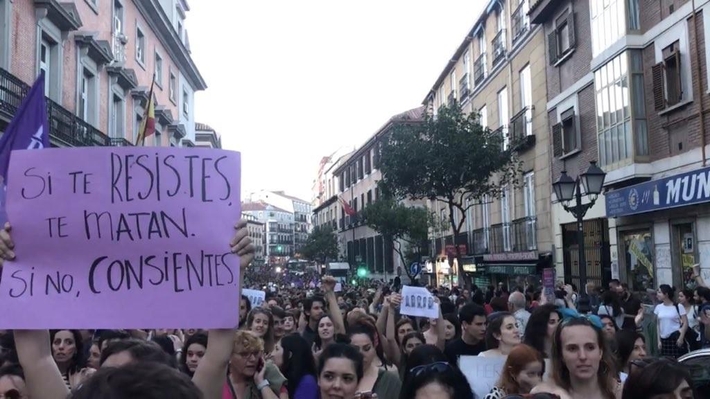 manifestacion sentencia la manada si te resistes te matan