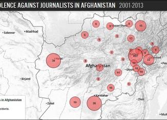 mapa ataque periodistas afganistan