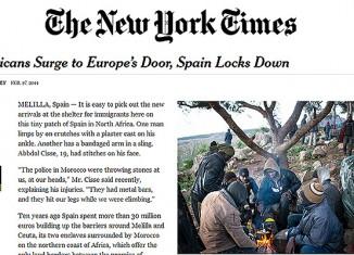 new york times,asalto,inmigrantes,ceuta,.melilla