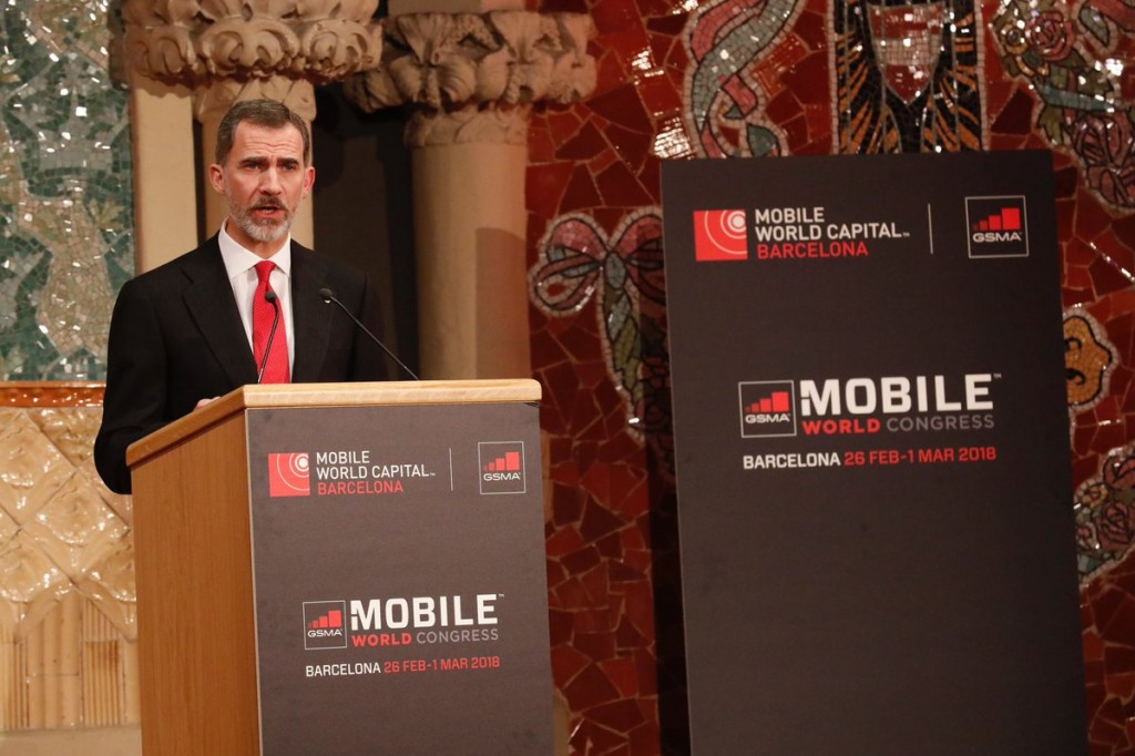 rey felipe VI Mobile World Congress