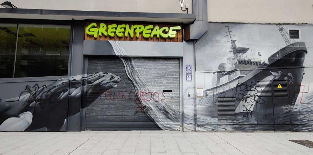 sede greenpeace vandalizada marzo 2021