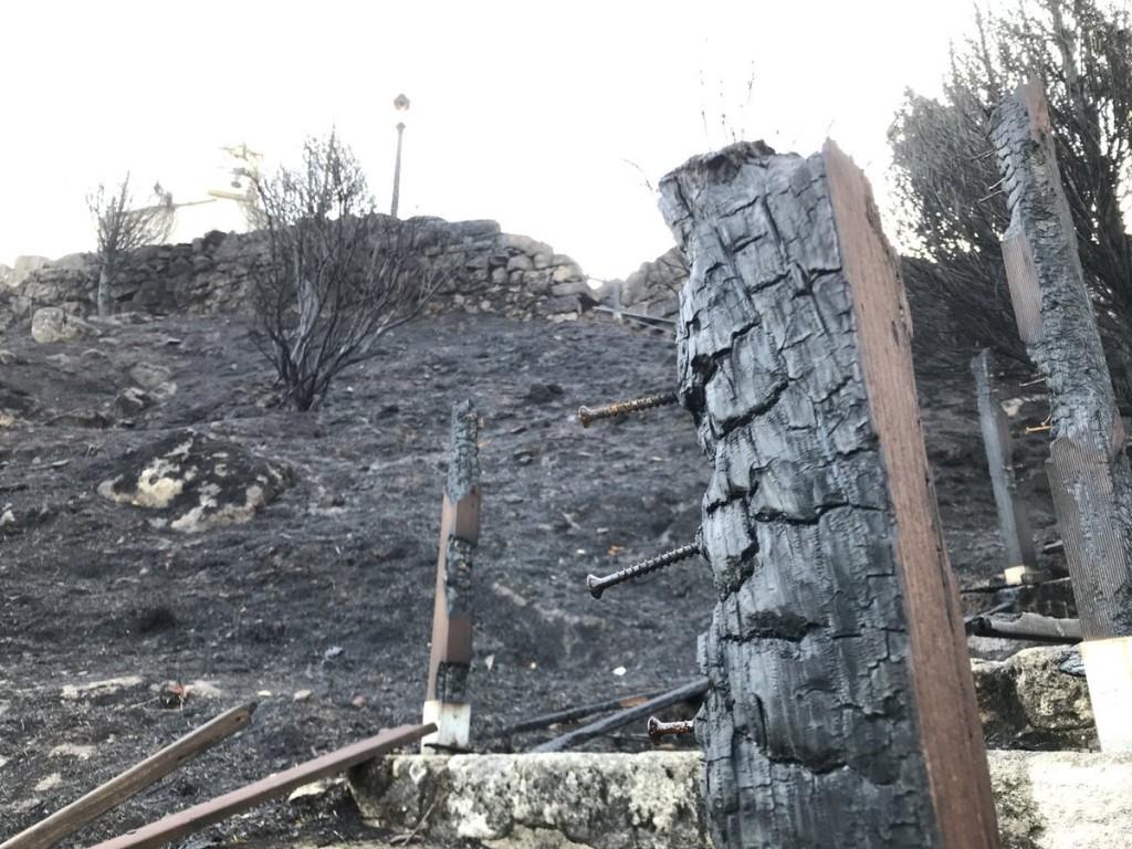 tronco quemado en Monte do Alba